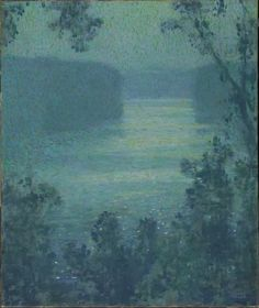 """magictransistor: """" Edward Steichen - Moonlight On the Narrows - Hudson River (oil on canvas), 1907 Lunder Collection,Colby College Museum of Art, Waterville, ME. """""""