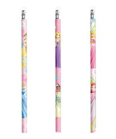 These pencils are princess-approved! Featuring favorite Disney royals, each pink pencil comes with a matching eraser. Try them for a fabulous favor at birthday parties and beyond.