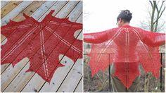 Maple Leaf Crochet Shawl