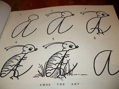 (A) Alphabet Antics 1955 Cursive Writing Book from looluus on Ruby Lane