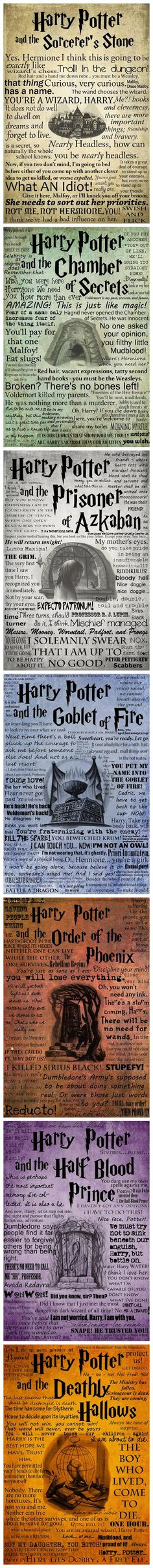 My favorite quotes from all the Harry Potter movies.