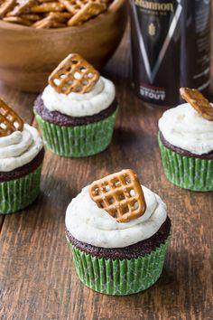 Sweet & Unique! Beer & Pretzel Cupcakes