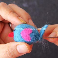 Needle Felting | Little Birdies | Free Pattern & Tutorial at CraftPassion.com