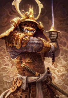 Golden Samurai by adlovett on DeviantArt Kabuto Samurai, Ronin Samurai, Samurai Warrior, Samurai Concept, Character Art, Character Design, Samurai Artwork, Oriental, Ninja Art