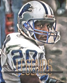 Barry Sanders Detroit Lions Abstract Art 20 Art Print by Joe Hamilton. All prints are professionally printed, packaged, and shipped within 3 - 4 business days. Detroit Lions Helmet, Detroit Lions Football, Detroit Sports, Nfl Football Teams, Bears Football, Football Art, Nfl Sports, School Football, Chicago Bears Pictures