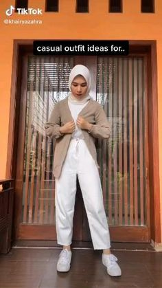 Hijab Fashion Summer, Modern Hijab Fashion, Street Hijab Fashion, Hijab Fashion Inspiration, Teen Fashion Outfits, Muslim Fashion, Stylish Hijab, Casual Hijab Outfit, Cute Casual Outfits