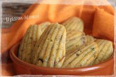 Madaleines salate con tonno e cipolline borettane