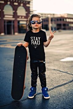 This little guy stays rad.
