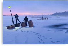 Stockholm, Sweden-based artist Simon Stalenhag makes intriguing landscape paintings that depict the Swedish countryside of the recent past, but with the Hidden Art, Inspiration Artistique, Concept Art World, Chef D Oeuvre, Matte Painting, Science Fiction Art, Environmental Art, Rpg, Apocalypse
