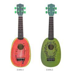 "High Quality 21"" Ukelele 4 Strings Ukulele Colorful Lovely Watermelon Basswood Stringed Musical Instrument Christmas Gift"