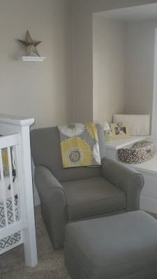 The paint is Dulux/Glidden and the color is Legend Tan — its the perfect shade of gray! It's just warm enough!
