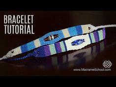 Sea Pearl Striped Beach Bracelet TUTORIAL by Macrame School - YouTube