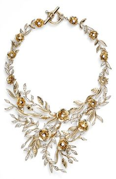 Marchesa 'Drama Flower Leaf' Necklace