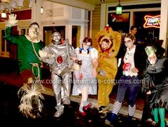 Homemade Zombie Wizard of Oz Group Costume... This website is the Pinterest of costumes
