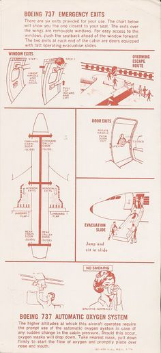 back of the card in the seat pocket Safety Instructions, Best Airlines, The Only Way, Good Company, Over The Years, Manual, Aviation, Concept, Pocket