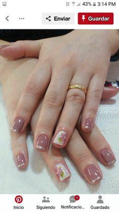 Pretty Nail Art, Beautiful Nail Art, Flower Nails, Nail Polish Colors, French Nails, Red Nails, Short Nails, Nail Arts, Cute Nails