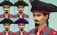 Mod The Sims - Unisex pirate hat conversion plus bandana added