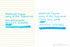 Goulet Pens Blog: Monteverde Turquoise: Ink Review