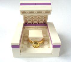 LEGO Ring Gift Box - Handmade with LEGO(r) engagement ring box wedding rings box - RING Sold Separately. $6.50, via Etsy.