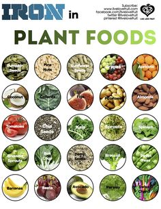 Iron from plant based foods