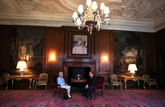 Queen Elizabeth II talks to the Scottish First minister Alex Salmond during an audience at the Palace of Holyrood House on July 2, 2013 in Edinburgh, Scotland.