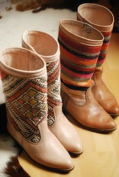 kilim boots. I could go for these.