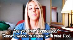 Jenna marbles Pick up lines haha Terrible Pick Up Lines, Best Pick Up Lines, Pick Up Lines Cheesy, I Love To Laugh, Make Me Smile, Are You From Tennessee, Chelsea, Just For Laughs, Slip