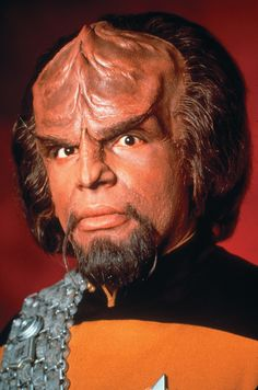 Star Trek: The Next Generation...Michael Dorn as Klingon Starfleet officer Lieutenant J.G. (later Lieutenant and then Lt. Commander) Worf