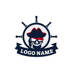 Black Helm and Pirates logo design