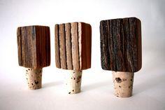 Reclaimed Wood Bottle Stop // Wine Stopper // Wooden by weareMFEO