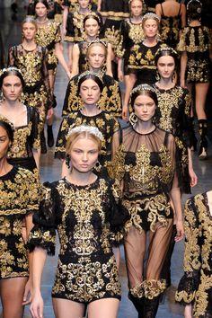 Dolce&Gabanna F/W 2012 : Inspiration de l'architecture baroque italienne