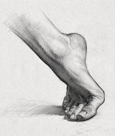 Art Drawings Sketches Simple, Pencil Art Drawings, Realistic Drawings, Drawing With Pencil, Feet Drawing, Life Drawing, Shading Drawing, Figure Sketching, Figure Drawing
