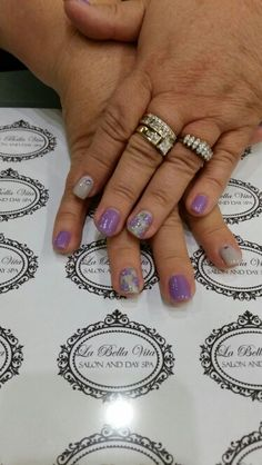 Purple and grey rose nails #handpainted #shellacnails #ilovewhatido #romantic #bling