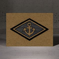 #Anchor #Postcard by Hammerpress | #nautical #maritime