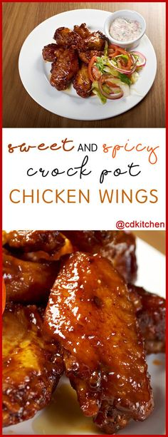 Sweet And Spicy Crock Pot Chicken Wings Recipe | CDKitchen.com