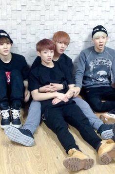 Taehyung and Jungkook. Namjoon touching Taehyung's arm aw Jimin, Bts Bangtan Boy, Bts Jungkook And V, Jungkook Cute, Namjoon, Kim Taehyung, Taekook, Rap Monster, Foto Bts