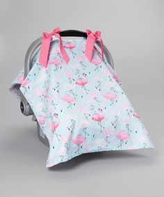 Love this Caught Ya Lookin' Blue & Pink Flamingo Car Seat Cover by Caught Ya Lookin' on #zulily! #zulilyfinds
