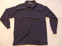 PRIDES LANDING Men's Shirts Size-M Blue Very Good!  #PRIDESLANDING #ButtonFront