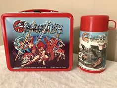 Vintage 1985 Thundercats Metal Lunch Box With Thermos Excellent Cond.!!!!
