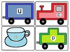 CVC Spelling Trains Word Work #trains #cvcwords