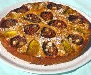 Fig hazelnut tart