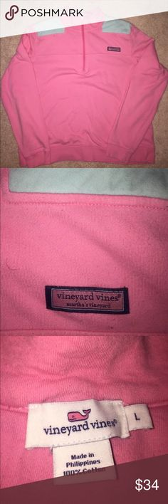 VINEYARD VINES SHEP SHIRT BEAUTIFUL VINEYARD VINES PRETTY PINK WITH TEAL ACCENTS SHEP SHIRT IN LARGE, EUC Vineyard Vines Sweaters Crew & Scoop Necks