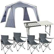 Walmart Ozark Trail Instant 14u0027 x 14u0027 Canopy with Table and Chairs Value  sc 1 st  Pinterest & Ozark Trail Instant 10u0027 x 10u0027 Straight Leg Canopy / Gazebo all it ...