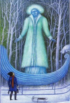 """Jindra Čapek illustration for """"The Snow Queen""""."""