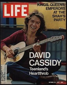 1971 DAVID CASSIDY Vintage Life Magazine *COVER ONLY*