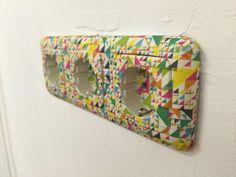 Stopcontact ingetaped met washi tape