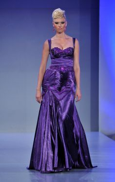 purple evening gown by walid atallah