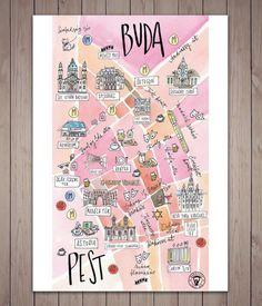 Falra akasztható műalkotások lettek Budapest térképéből - REBEKA RAJNAI