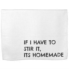 Funny Kitchen Tea Towel - white gifts elegant diy gift ideas
