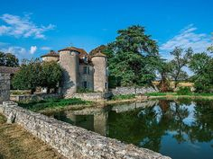 French Chateau for sale in 86 - Vienne , Poitou Charentes France. XVIIth C Château flanked by 4 towers. The Château requires renovation and offers 450 m2 of potential habitable space. It is positioned around a courtyard formed by the Château and substantial outbuildings (700 m2). The Château is set in a very peaceful location in the midst of its grounds of over 50 ha.